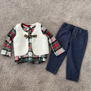 Carter's infant girls 3 piece outfit